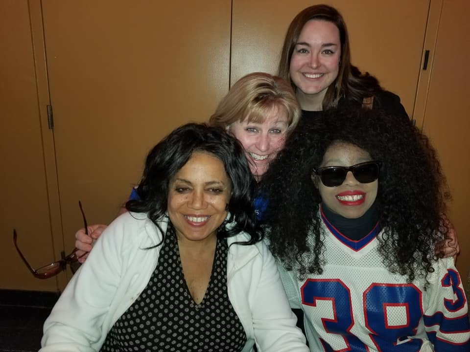 Joyce @ Tailgate w Sandy White and crew